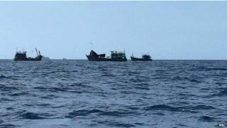 अ़ंडमान में फंसी नावें