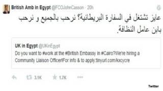 السفير البريطاني في مصر