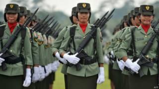 Женщины в армии Индонезии