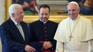 محمود عباس والبابا فرانسيس