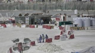 Construcción de un estadio para Qatar 2022