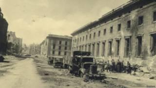 Здание рейхсканцелярии в 1945 году