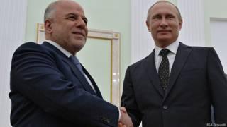 Путин встречается с премьер-министром Ирака Хейдаром Абади