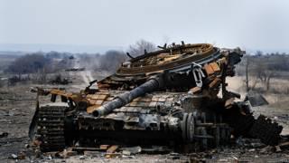Уничтоженный танк Е-72