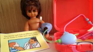 Кукла, набор для игры в больницу