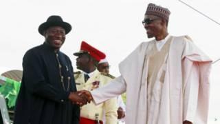 Shugaba Buhari da Goodluck Jonathan