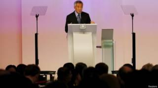 新加坡總理李顯龍發表演講