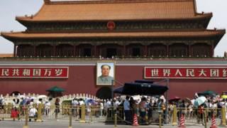 شرطة صينية في ميدان تيانانمن