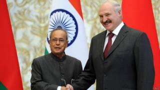 президенты индии и белоруссии