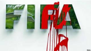Забрызганный логотип ФИФА