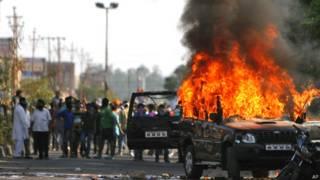 जम्मू में सिखों का विरोध प्रदर्शन