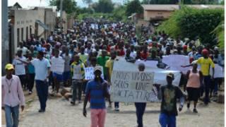 Masu zanga-zanga a Burundi