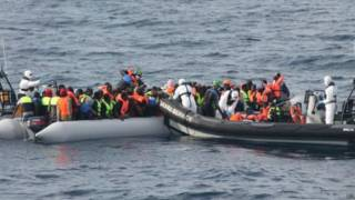 migrant in the Mediterranean