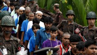 Myanmar transfer 150 migrants boat people to Bangladesh