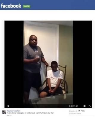 Imagen de video de padre que critica las humillaciones en las redes
