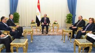 Umukuru w'igihugu wa Misiri, Abdel Fatah al Sisi, niwe yari arongoye inama y'i Sharm el Sheikh
