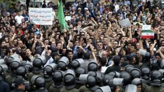 تجمع اعتراضی در مقابل سفارت عربستان در تهران