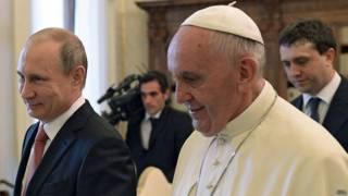 Встреча папы Франциска с президентом Путиным в Ватикане