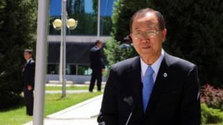 Ban Ki Moon yahojeje u Burundi