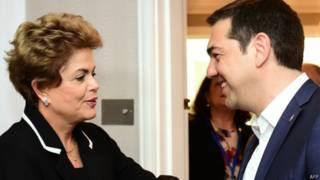Dilma com Alexis Tsipras
