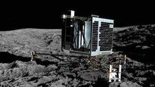 Após 7 meses, sonda pousada em cometa 'acorda' e faz contato com a Terra