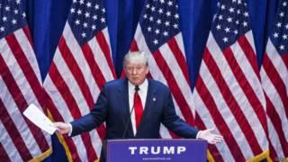 donal trump, empresario y precandidato presidencial republicano