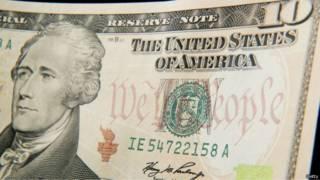 ورقة نقدية فئة عشرة دولارات