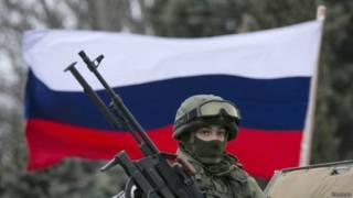Российский солдат в Крыму