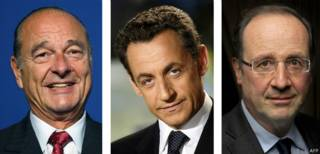 Президенты Франции Шикар, Саркози и Олланд