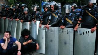 Акция протеста в Ереване 24 июня 2015 г.