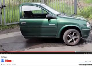 आधी कार, यूट्यूब वीडियो
