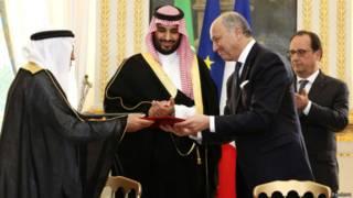 وزیر امور خارجه فرانسه و وزیر دفاع عربستان