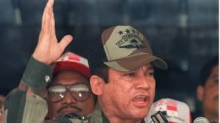 Manuel Antonio Noriega en 1988 cuando era comandante de las Fuerzas de Defensa de Panamá
