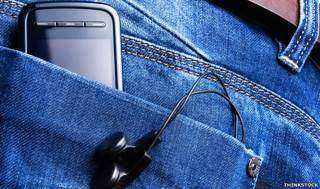 MP3 en bolsillo de jean