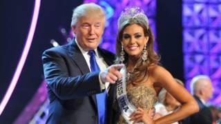 Donald Trump y Miss Estados Unidos