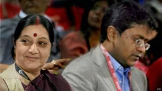 विदेश मंत्री सुषमा स्वराज और ललित मोदी (फ़ाइल फ़ोटो)