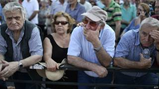 La permanencia de Grecia en el euro está puesta en cuestión.