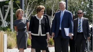 Dilma na sede do Google (Reuters)
