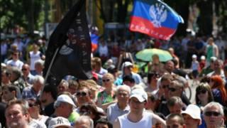 мітинг прихильників ДНР у Донецьку