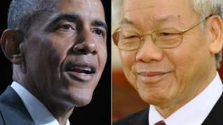 Tổng thống Mỹ, ông Obama, và Tổng bí thư Việt Nam, ông Nguyễn Phú Trọng