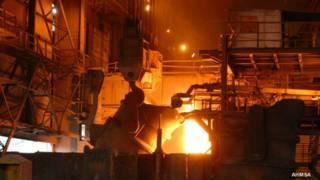 Producción de acero en México. Foto: AHMSA