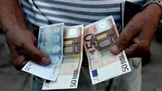 Grecia, euros