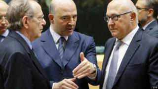 यूरोज़ोन के वित्त मंत्रियों