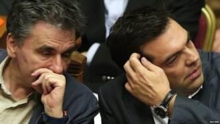 Tsipras y su ministro de economía