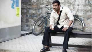 'दृ्यम' के एक दृश्य में अजय देवगन