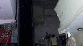 दिल्ली में इमारत गिरी