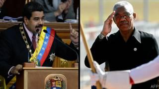 Nicolás Maduro y David Granger