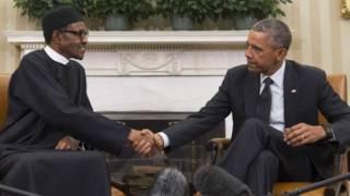 Rais Mahammadu Buhari na Rais Obama