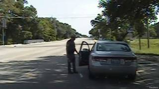 Dashcam footage shows a Texas trooper arguing with Sandra Bland as she is arrested
