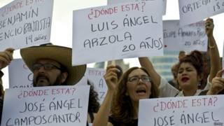 Protesta por los desaparecidos